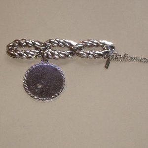 Monet bracelet silver identification ID charm